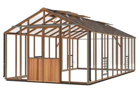 Alton Evolution Ten 10 x 20 Cedar Greenhouse