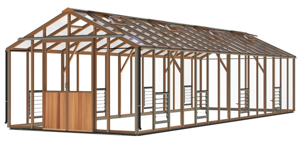 Alton Evolution Ten 10 x 30 Cedar Greenhouse