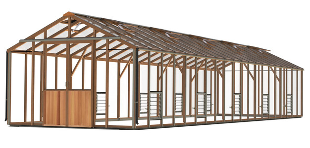 Alton Evolution Ten 10 x 40 Cedar Greenhouse