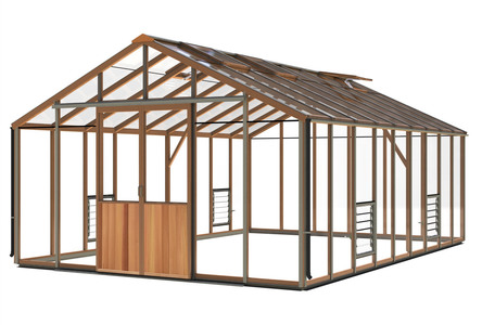 Alton Evolution Ten 12 x 18 Cedar Greenhouse