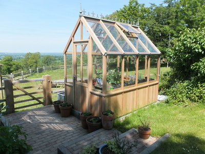 Alton Denstone Victorian (Half Boarded) Greenhouse