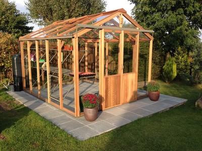 Alton Evolution 8x10 Cedar Wooden Greenhouse