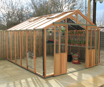 Alton Evolution Ten 10 x 14 Cedar Greenhouse