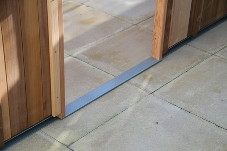 Low level door threshold