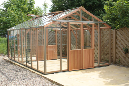 Alton Evolution Ten 10 x 16 Cedar Greenhouse