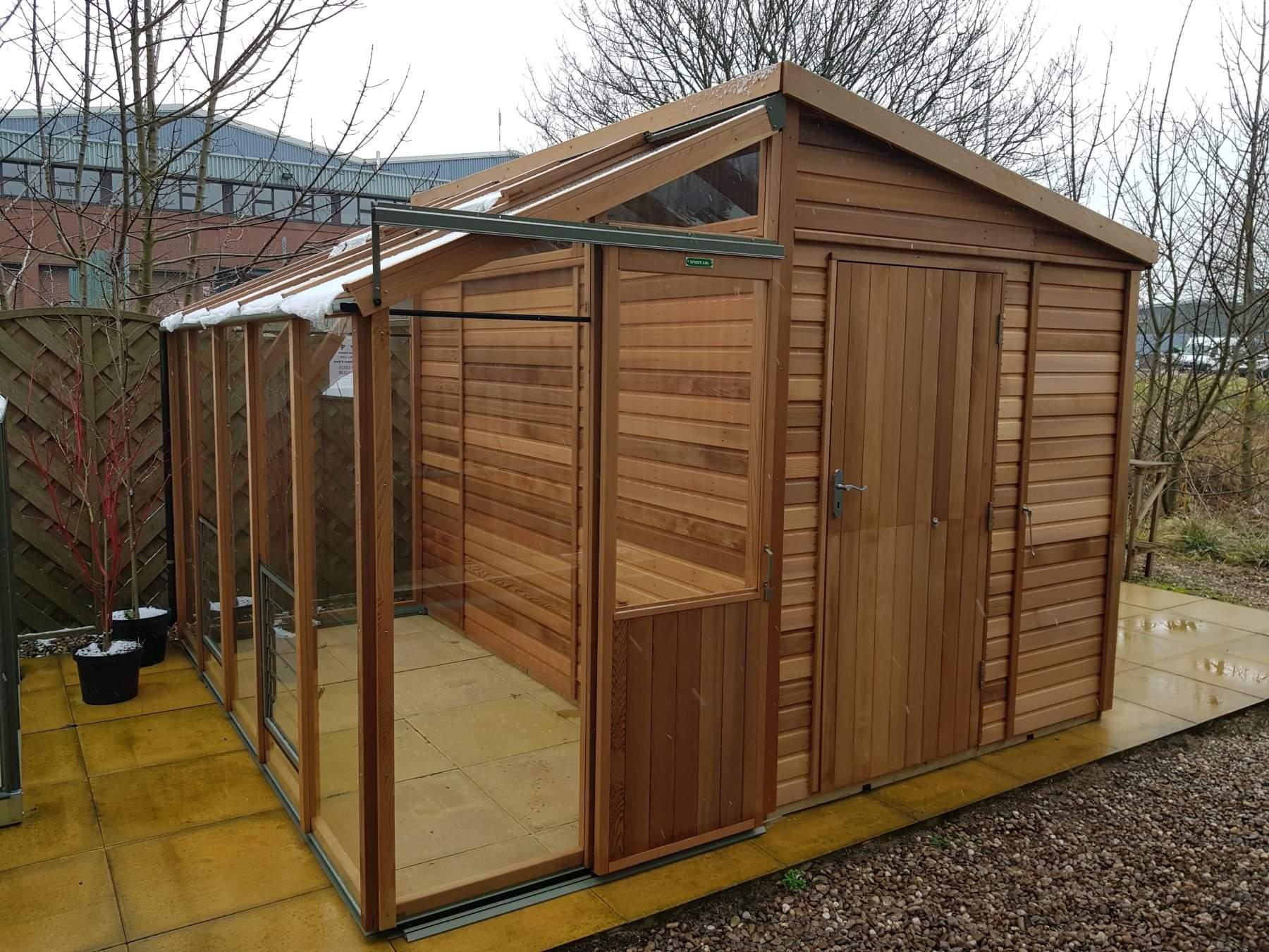 Fusion 10 Cedar Greenhouse (10'10