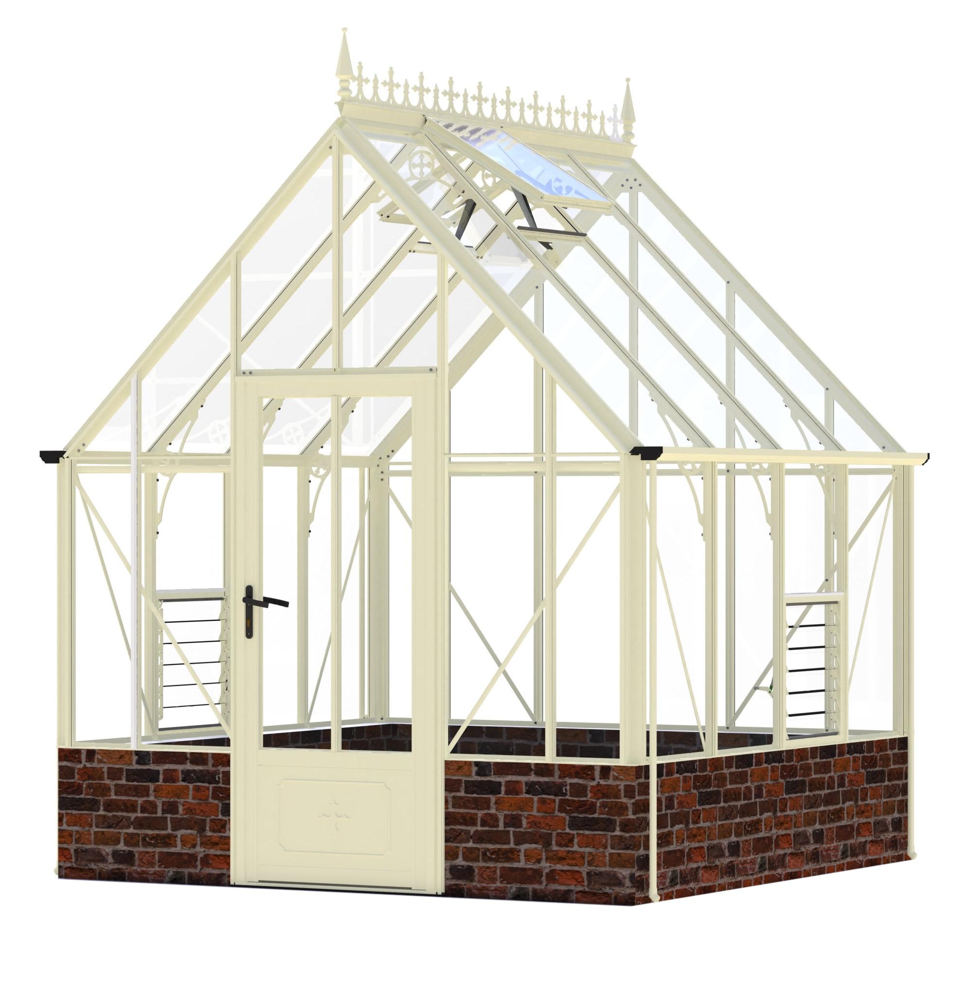 Victorian Rushmoor Ivory Greenhouse 8 39 6 X 8 39 7