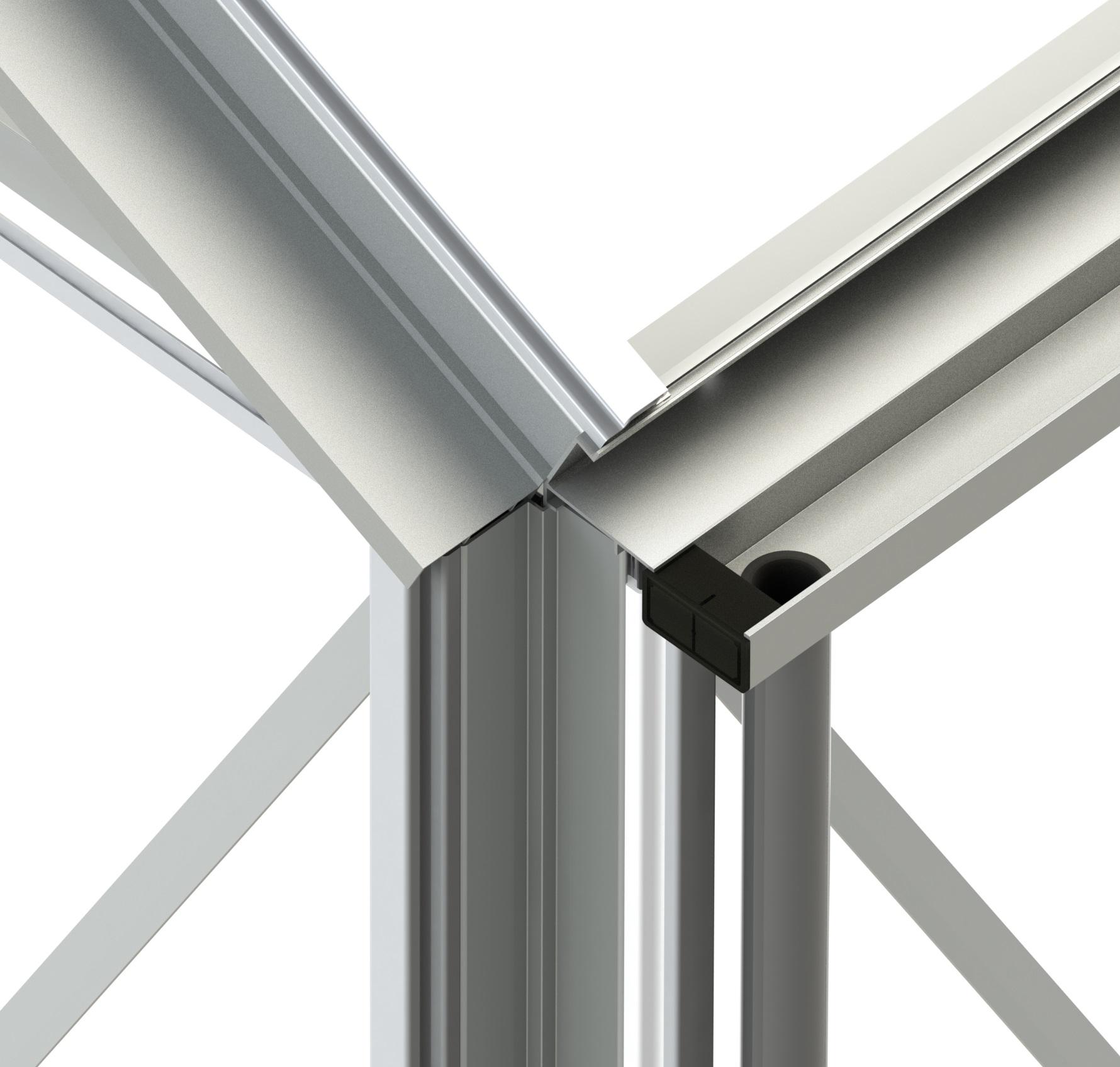 Redoubtable Plain Aluminium Greenhouse (10\'6\