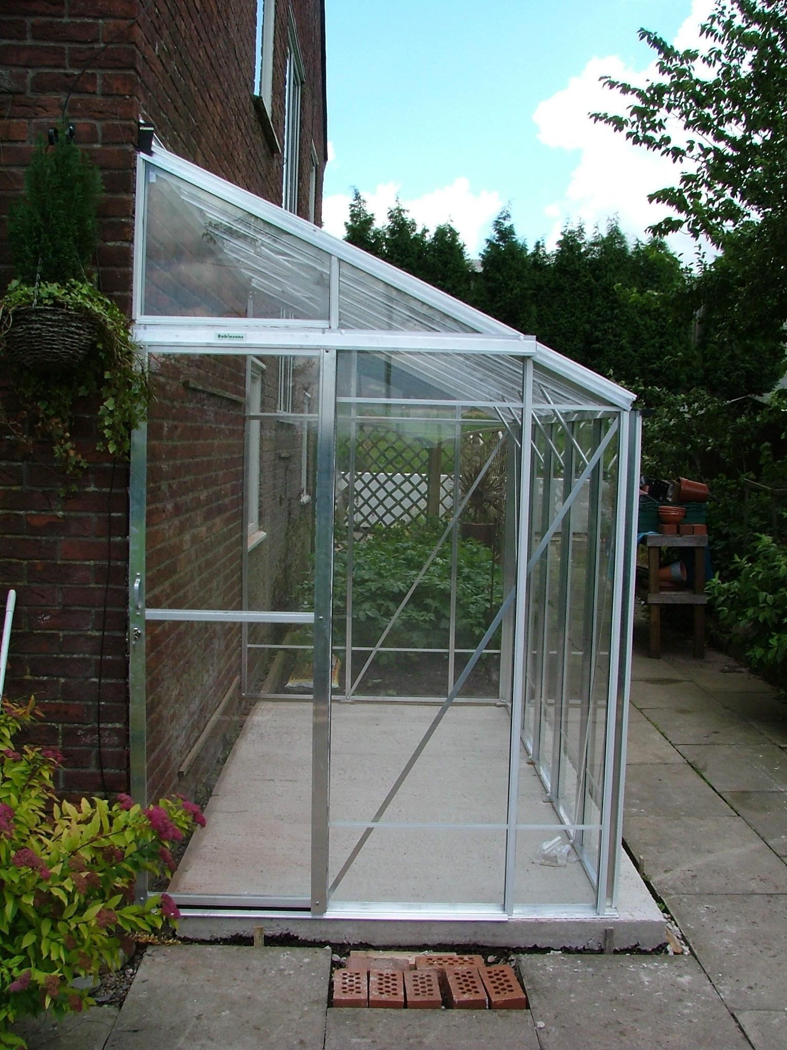 5ft Wide Lean To Plain Aluminium Greenhouse 5 3 Quot X 12 8