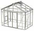 Rosette Reach Plain Aluminium Greenhouse