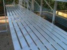 "Slatted Staging 37"" X 64ft Plain Aluminum"