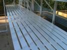 """Slatted Staging 37"""" X 24ft Plain Aluminum"""