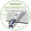 5ft Wide LEAN-TO Plain Aluminium Greenhouse