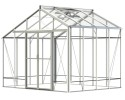 Redoubtable Plain Aluminium Greenhouse