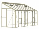 5ft Wide LEAN-TO Ivory Greenhouse