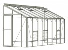 5ft Wide LEAN-TO Pastel Sage Greenhouse