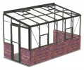 6ft Wide LEAN-TO Old Cottage Green Greenhouse