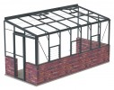 6ft Wide LEAN-TO Anthracite Greenhouse