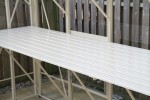 "25"" Slatted Staging 20ft Long Ivory"