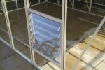 6ft Wide LEAN-TO Ivory Greenhouse