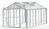 Royale Plain Aluminium Greenhouse