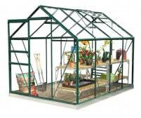 Classic 6ft x 8ft Green Greenhouse Starter Package