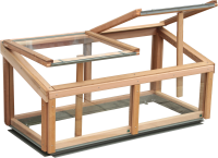 Cedar cold frame 4x2 with Cedar capping