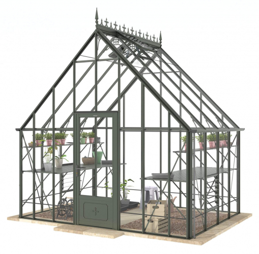 Reigate Old Cottage Green Greenhouse