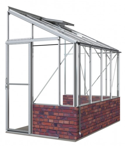 5ft Wide LEAN-TO White Greenhouse