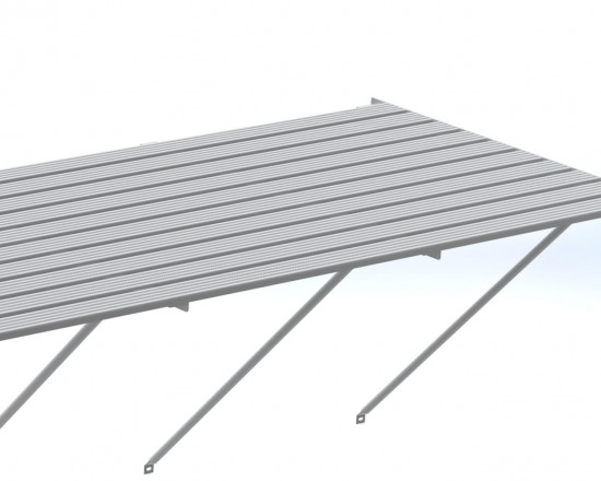 "Slatted Staging 35"" X 10ft Plain Aluminum"