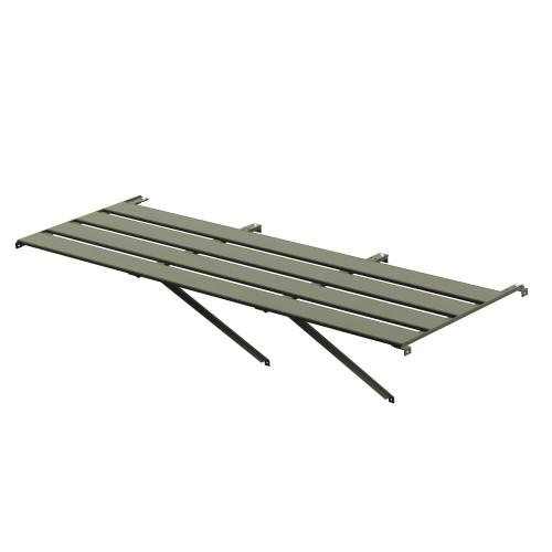 "4 Slat (25"") Wide Aluminium Staging (Moss) 6ft"
