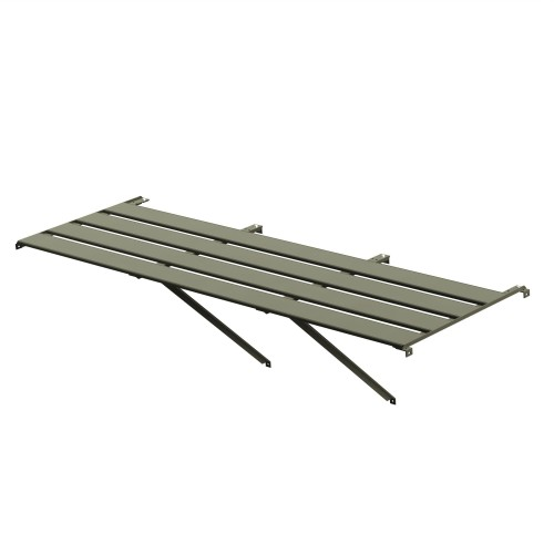"4 Slat (25"") Wide Aluminium Staging (Moss) 8ft"