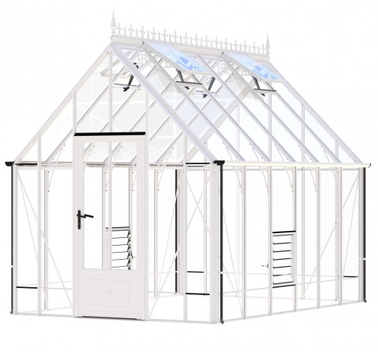 Victorian Ratcliffe White Greenhouse