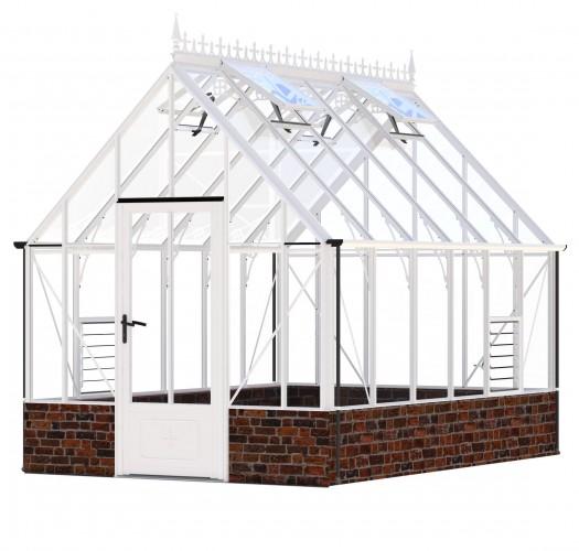 Victorian Rushmoor White Greenhouse