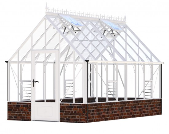 Victorian Rushmoor White Greenhouse