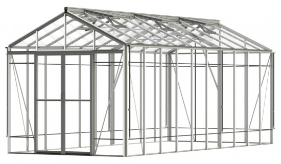 Royale Reach Plain Aluminium Greenhouse