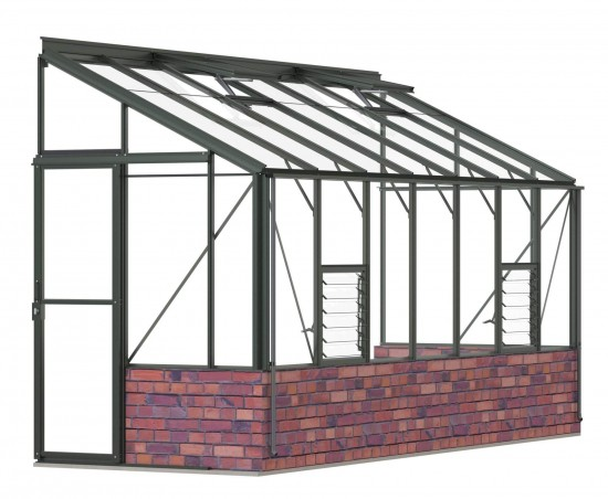 5ft Wide LEAN-TO Old Cottage Green Greenhouse