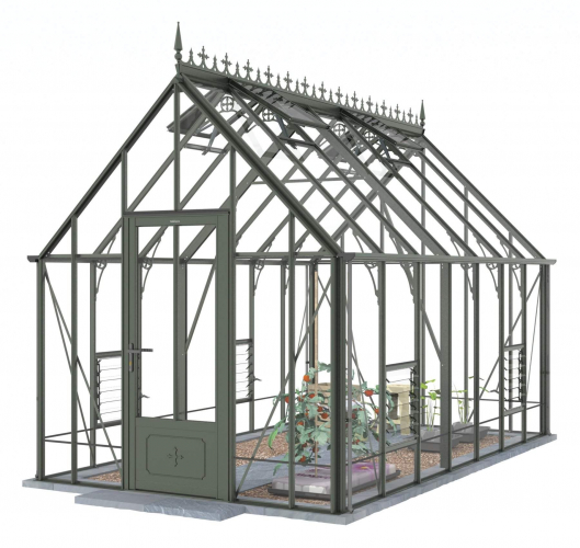Victorian Ratcliffe Old Cottage Green Greenhouse