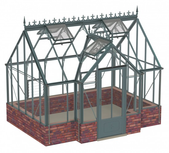 Rushby Old Cottage Green Greenhouse