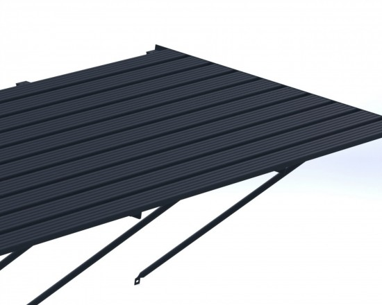 "Slatted Staging 35"" X 12ft Anthracite"