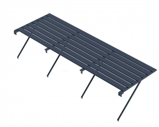 "Slatted Staging 25"" X 14ft Anthracite"