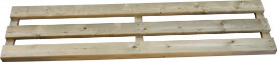 Renaissance 6x12 Timber Rear Shelf Infill White Legs