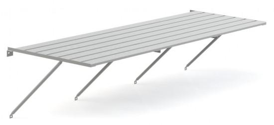 """Slatted Staging 25"""" X 8ft Plain Aluminium"""