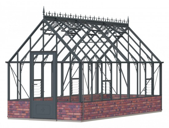 Victorian Rushmoor Anthracite Greenhouse