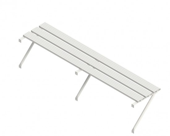 Slatted Shelf 12ft White