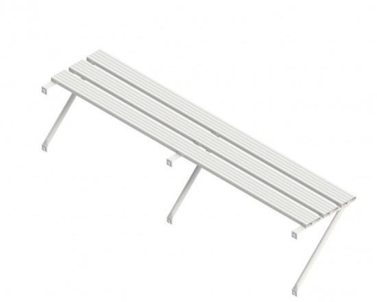 Slatted Shelf 16ft White
