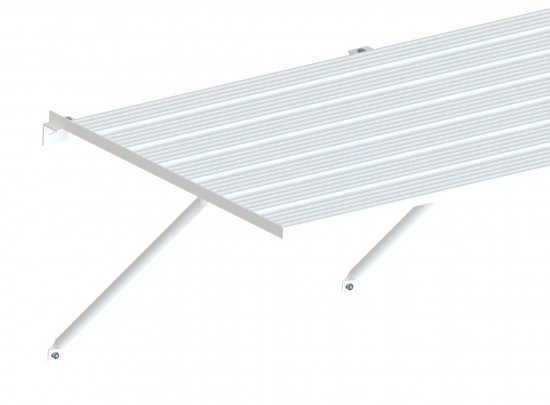 "Slatted Staging 25"" X 14ft White"