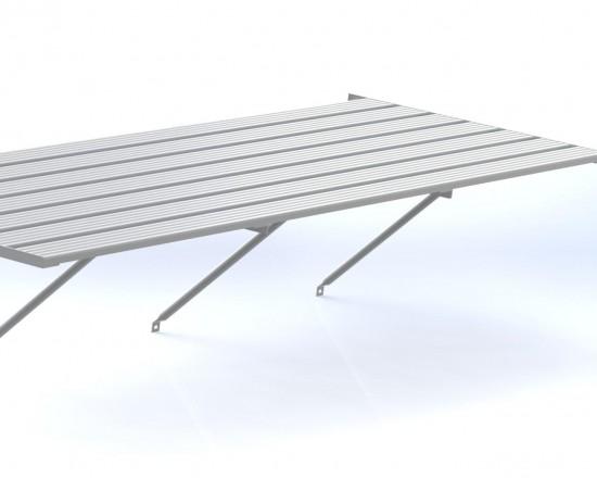"""Slatted Staging 25"""" X 20ft Plain Aluminium"""