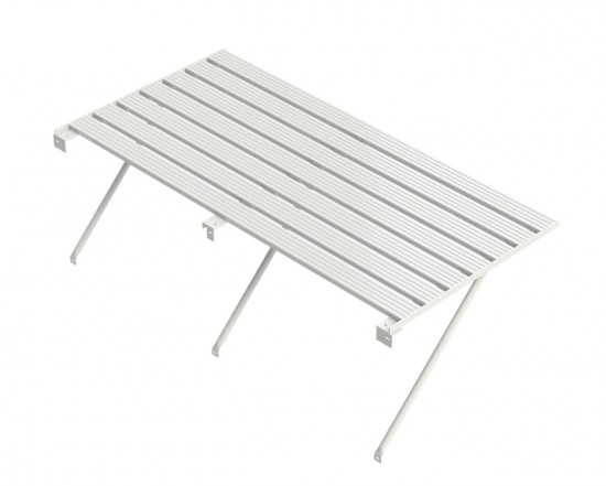 "Slatted Staging 25"" X 8ft White"
