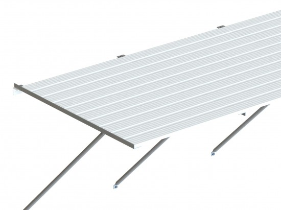 "Slatted Staging 35"" X 14ft White"